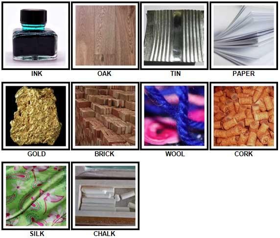 100 Pics Materials Level 1-10