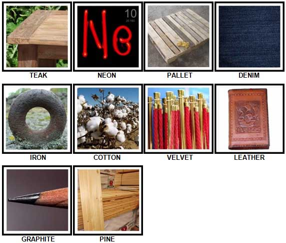 100 Pics Materials Level 21-30