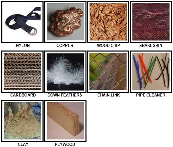 100 Pics Materials Level 31-40