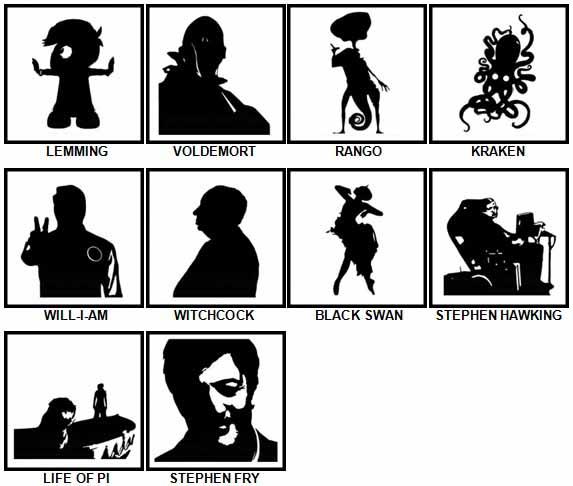 100 Pics Shadows Level  91-100