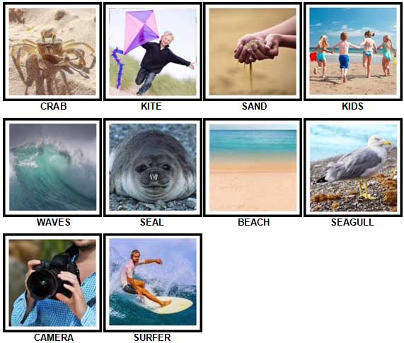 100 Pics The Seaside Level 1-10 Answers