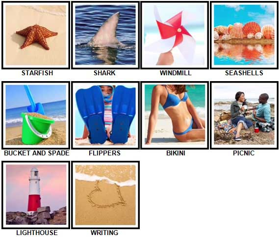 100 Pics The Seaside Level 11-20 Answers