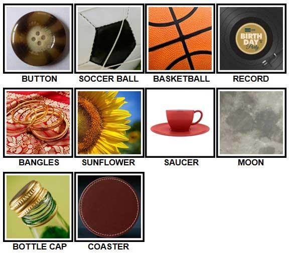 100 Pics Circular Level 21-30 Answers