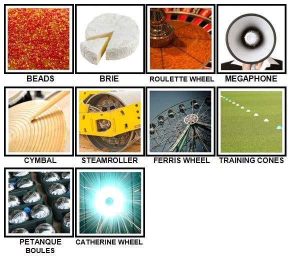 100 Pics Circular Level 81-90 Answers
