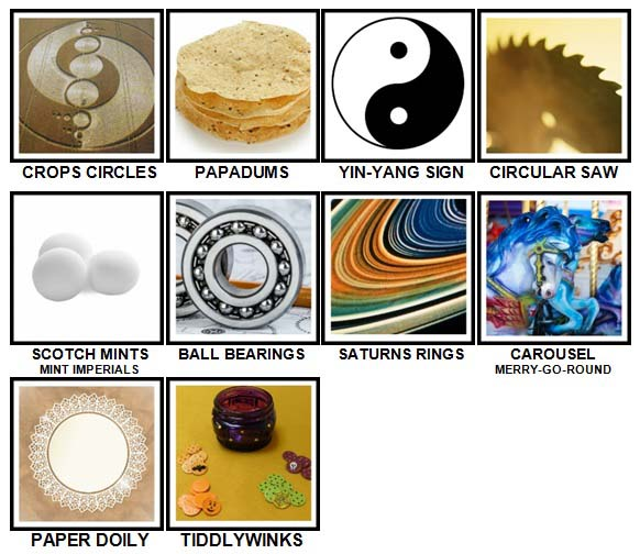 100 Pics Circular Level 91-100 Answers