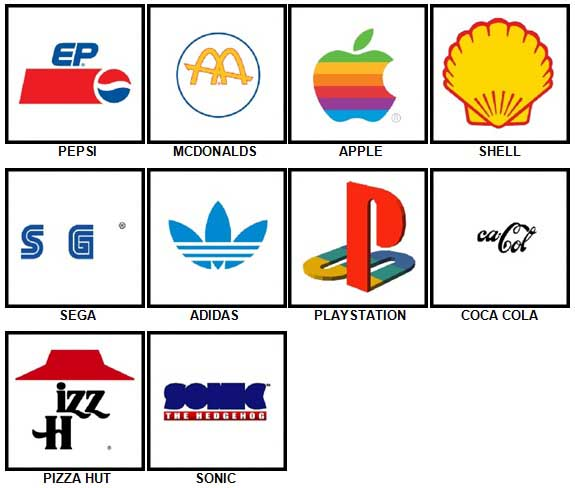 100 Pics Retro Logos Answers 1-10