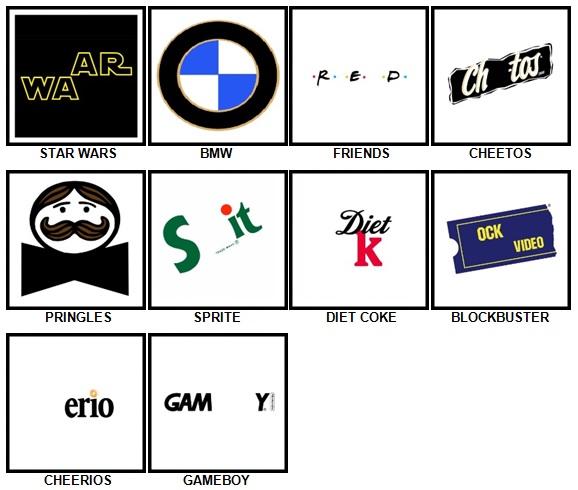 100 Pics Retro Logos Answers 11-20