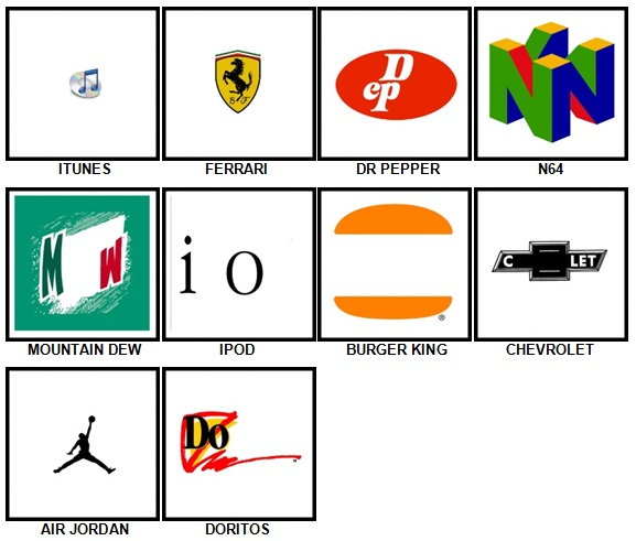 100 Pics Retro Logos Answers 21-30