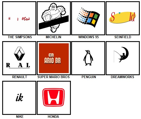 100 Pics Retro Logos Answers 31-40
