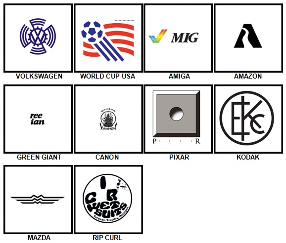 100 Pics Retro Logos Answers 81-90