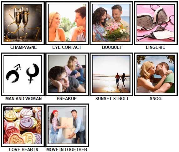 100 Pics Love Level 41-50 Answers