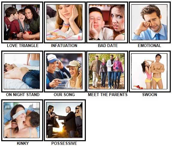 100 Pics Love Level 81-90 Answers