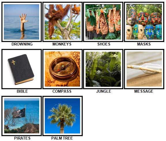 100 Pics Desert Island Level 11-20 Answers