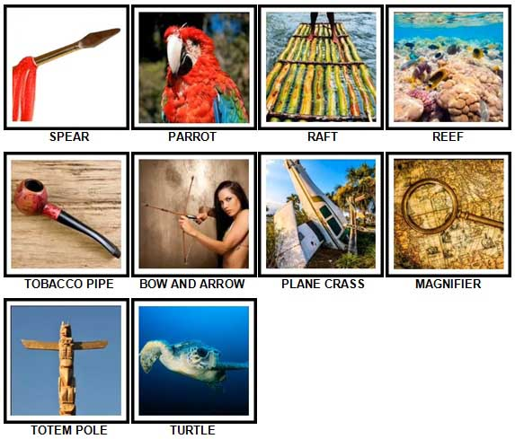 100 Pics Desert Island Level 21-30 Answers