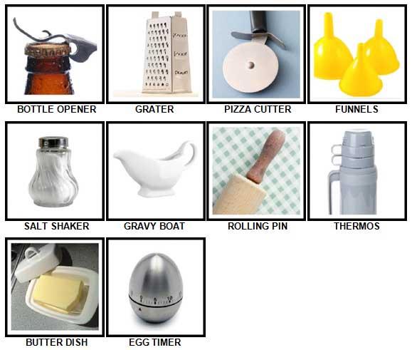 100 Pics Kitchen Utensils Answers 1-10