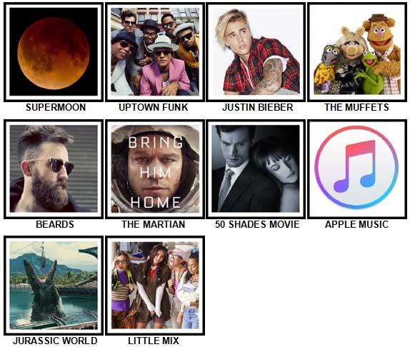100 Pics 2015 Quiz Answers 1-10