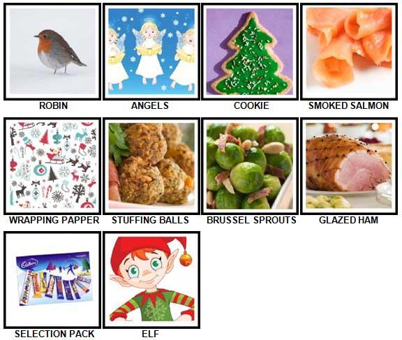 100 Pics Christmas Level 11-20 Answers | 100 Pics Answers