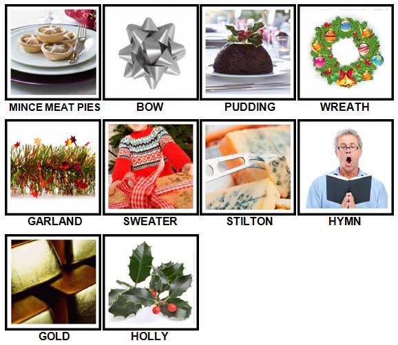 100 Pics Christmas Level 21-30 Answers