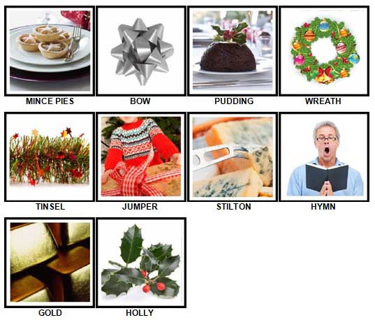 100 Pics Christmas Level 21-30 Answers | 100 Pics Answers