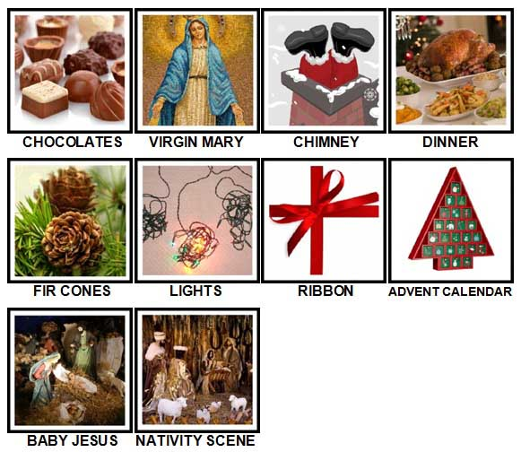 100 Pics Christmas Level 41-50 Answers