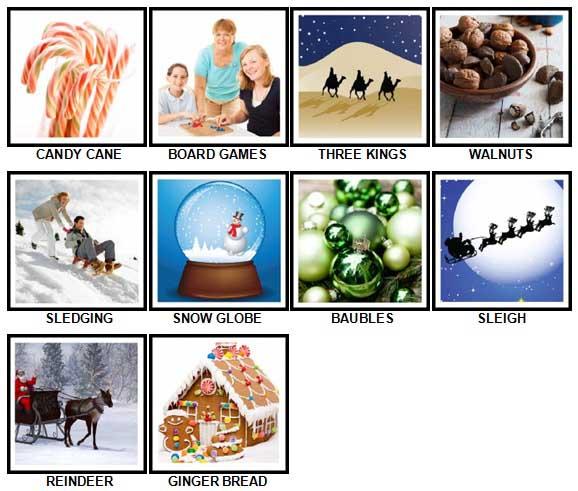 100 Pics Christmas Level 51-60 Answers | 100 Pics Answers