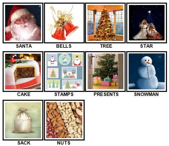 100 Pics Christmas Level 1-10 Answers