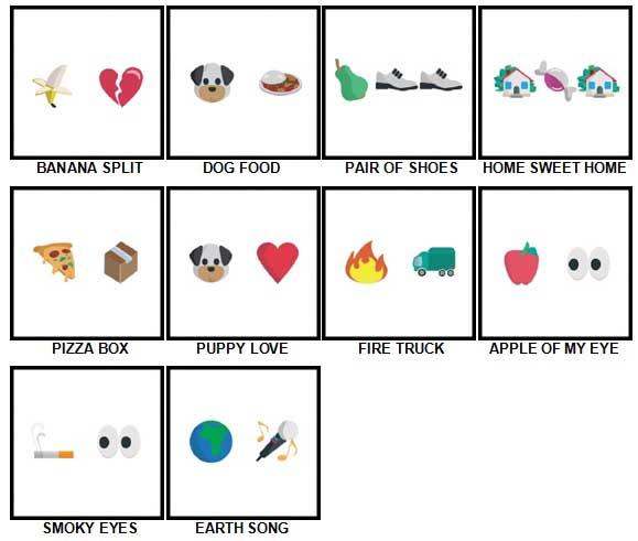 100 Pics Emoji Quiz 4 Answers 1-10