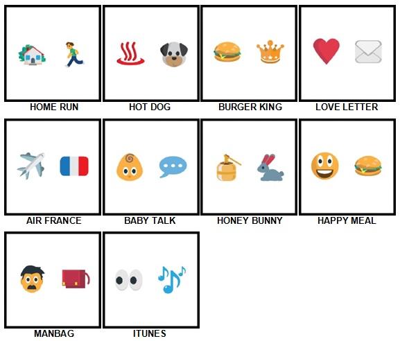 100 Pics Emoji Quiz 5 Answers 1-10