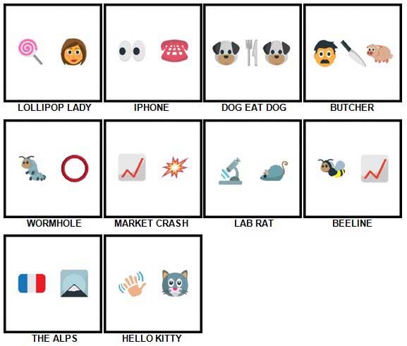 100 Pics Emoji Quiz 5 Answers 21-30