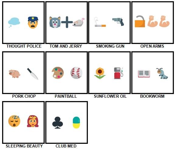 100 Pics Emoji Quiz 5 Answers 31-40
