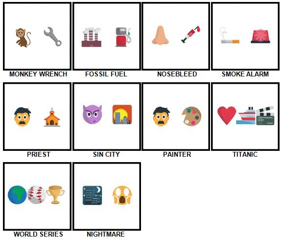 100 Pics Emoji Quiz 5 Answers 41-50
