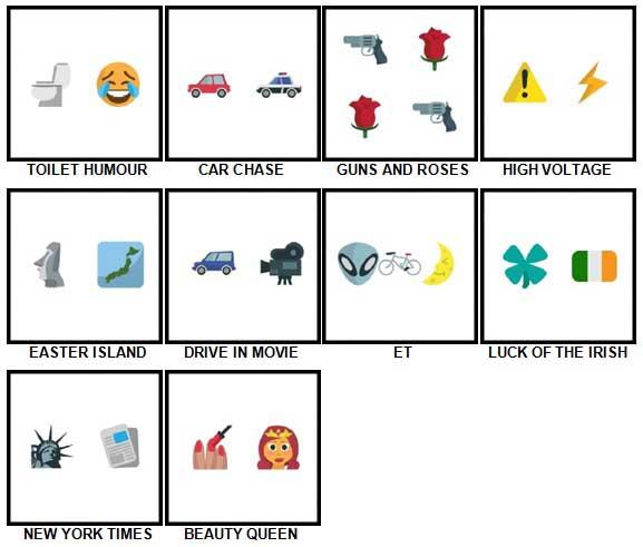 100 Pics Emoji Quiz 5 Answers 51-60
