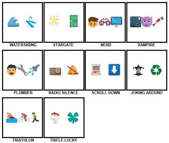 100 Pics Emoji Quiz 5 Answers 61-70