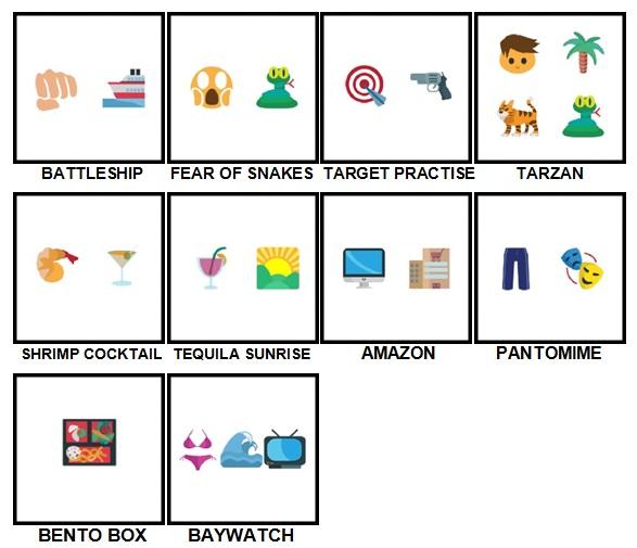 100 Pics Emoji Quiz 5 Level 71-80 Answers