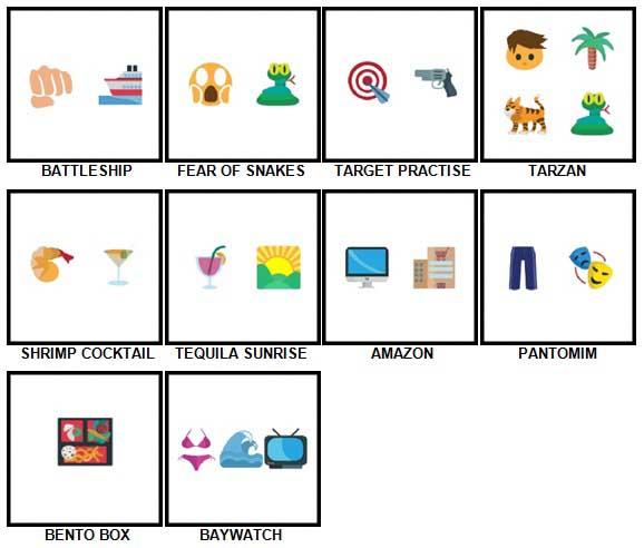 100 Pics Emoji Quiz 5 Answers 71-80