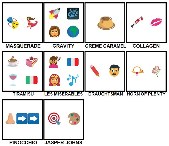 100 Pics Emoji Quiz 5 Level 91-100 Answers