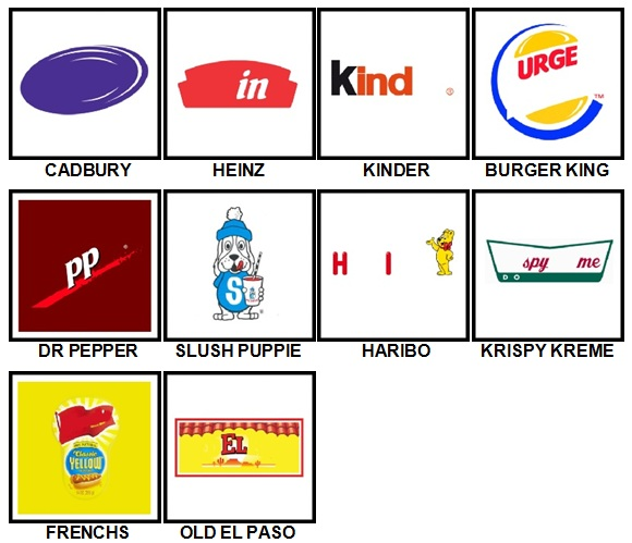 100 Pics Food Logos Level 11-20 Answers | 100 Pics Answers