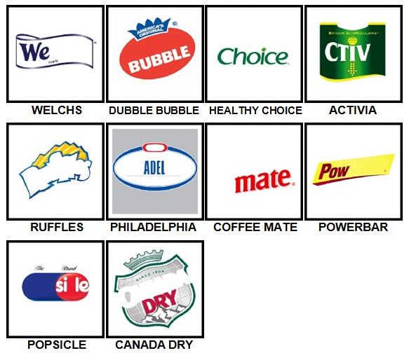 100 Pics Food Logos Level 71-80 Answers
