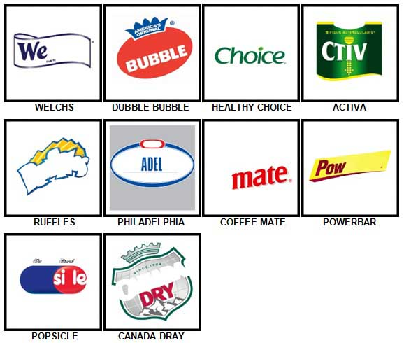 100 Pics Food Logos Level 71-80 Answers