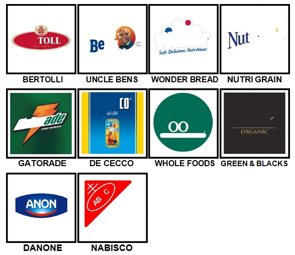 100 Pics Food Logos Level 81-90 Answers