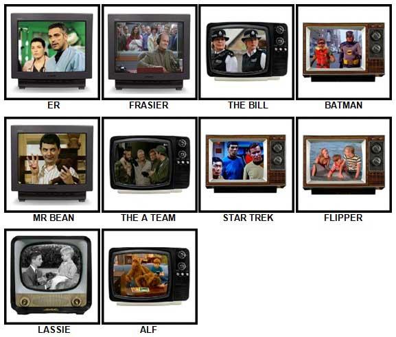 100 Pics TV Classics Answers 1-10