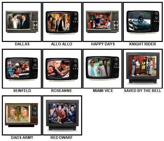 100 Pics TV Classics Answers 11-20