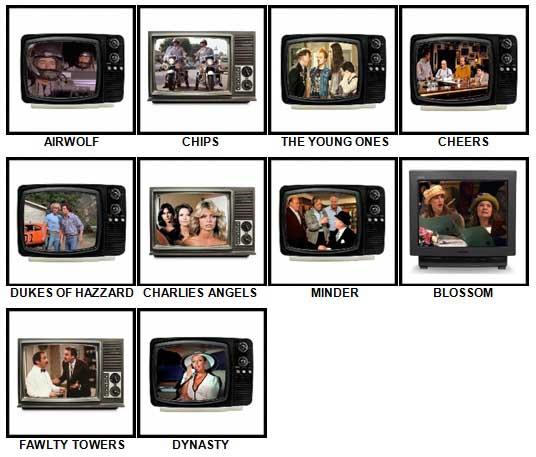 100 Pics TV Classics Answers 21-30