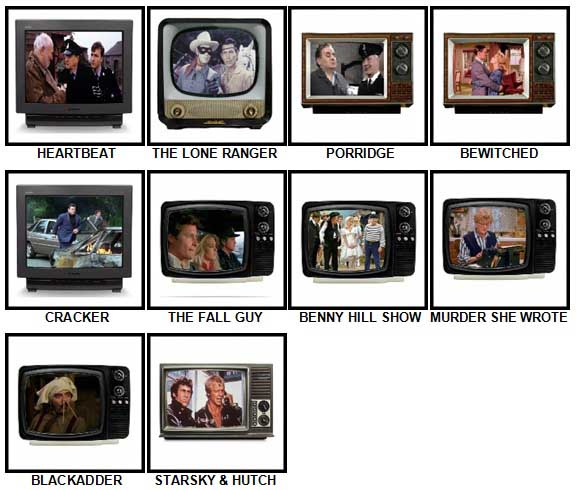 100 Pics TV Classics Answers 31-40