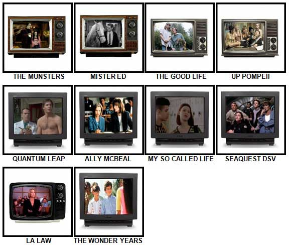 100 Pics TV Classics Answers 41-50