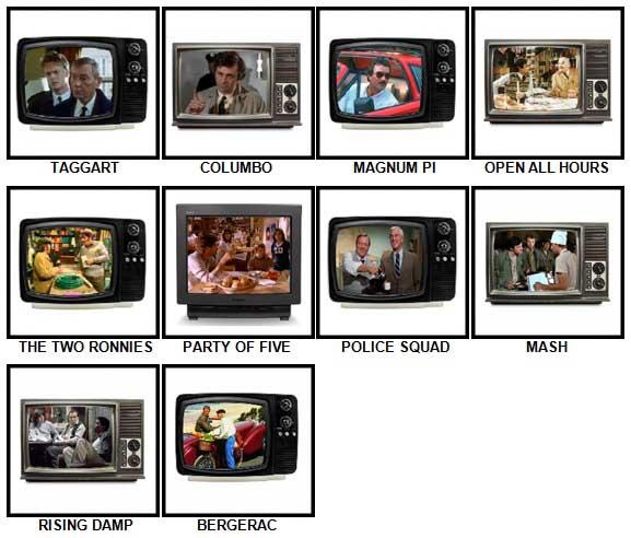 100 Pics TV Classics Answers 51-60