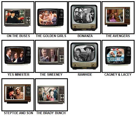 100 Pics TV Classics Answers 61-70
