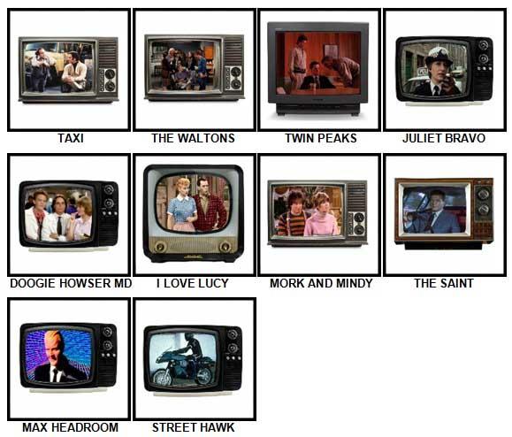 100 Pics TV Classics Answers 71-80