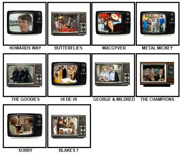100 Pics TV Classics Answers 81-90