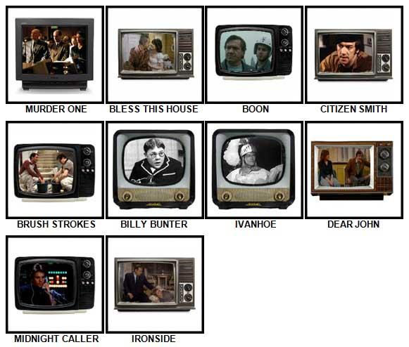100 Pics TV Classics Answers 91-100
